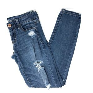 AEO Distressed Jegging Skinny Jeans